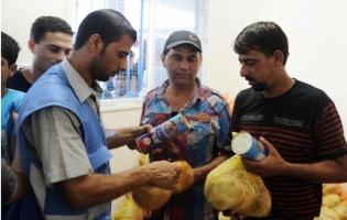 Foto UNRWA. Reparto de alimentos a miles de familias desplazadas en Gaza (3)