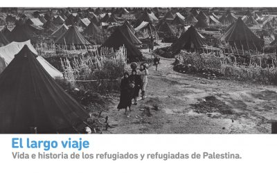 'El Largo Viaje', la historia de los refugiados de Palestina, se expone en el Palacio de Orive hasta el 26 de junio