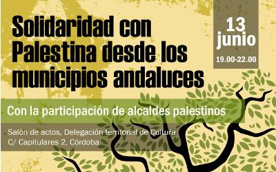Solidaridad municipal con Palestina: es la propuesta de la Mesa Redonda del día 13 de junio, en la Delegación de Cultura de Córdoba