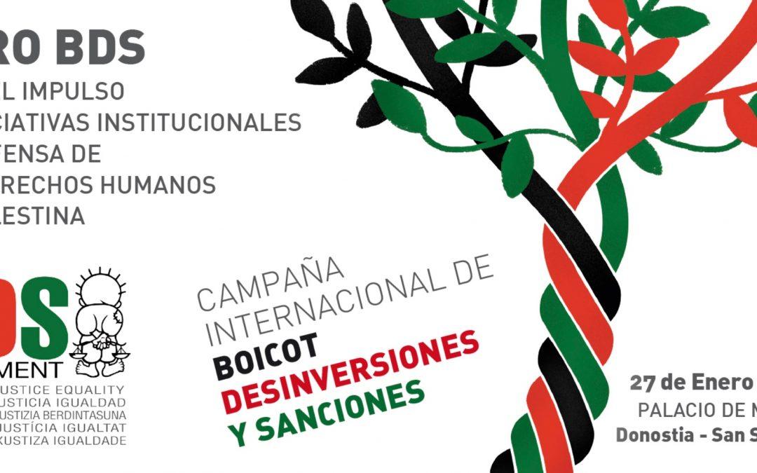 Decenas de entidades locales han reivindicado en Donostia-San Sebastián su Derecho al Boicot a Israel
